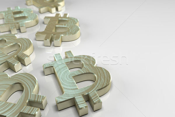 Bitcoin currency concept Stock photo © Mazirama