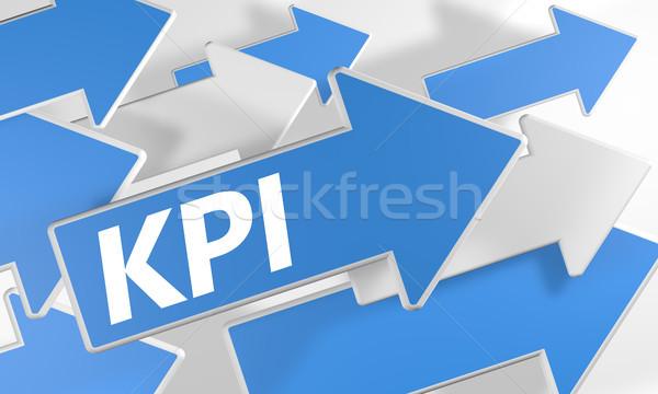 Sleutel prestaties 3d render Blauw witte Stockfoto © Mazirama