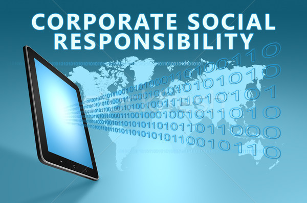 Entreprise sociale responsabilité illustration bleu Photo stock © Mazirama