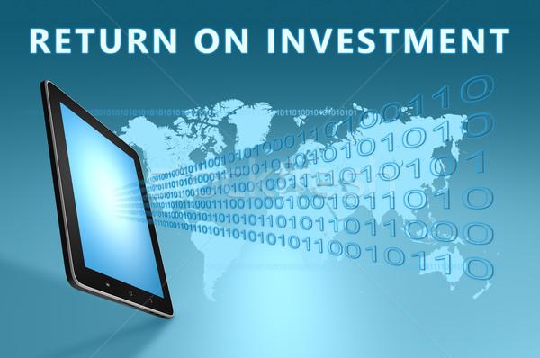Voltar investimento ilustração azul dinheiro Foto stock © Mazirama
