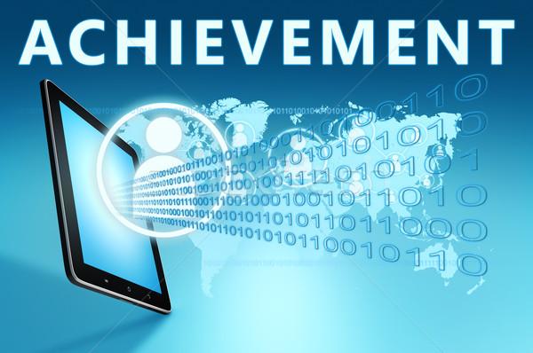 Başarı örnek mavi gelecek başarı Stok fotoğraf © Mazirama