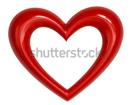 Rouge coeur forme de coeur blanche heureux design Photo stock © mblach