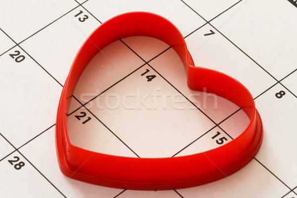 heart on calendar Stock photo © mblach