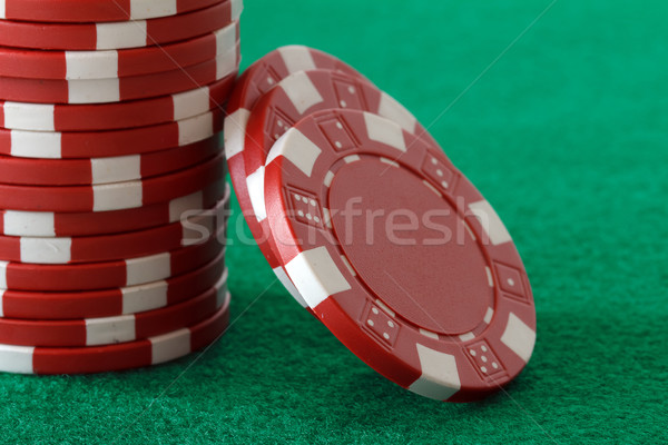 Poker chips tabel achtergrond leuk Rood poker Stockfoto © mblach