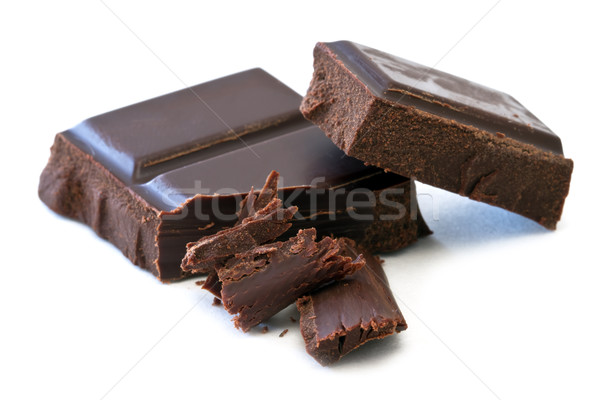 Chocolat bars blanche bonbons grasse brisé Photo stock © mblach