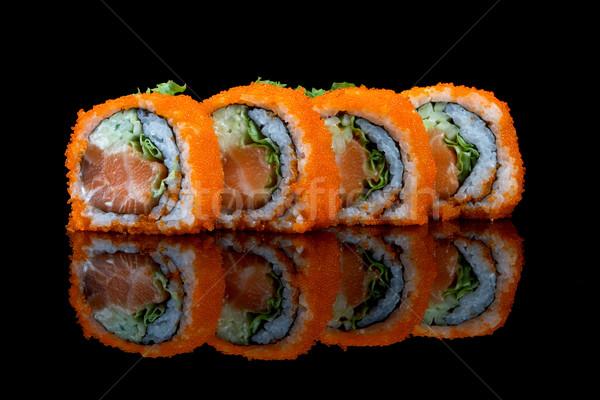 Stock fotó: Szusi · repülés · hal · tojások · vacsora · rizs