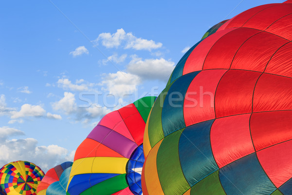Forró levegő léggömbök színes égbolt sport Stock fotó © mblach