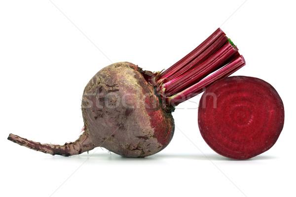 Cékla fehér étel háttér piros növény Stock fotó © mblach
