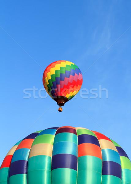 Caliente aire globos cielo azul cielo deporte Foto stock © mblach