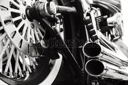 мотоцикл моде мужчин мальчика велосипед Сток-фото © mblach