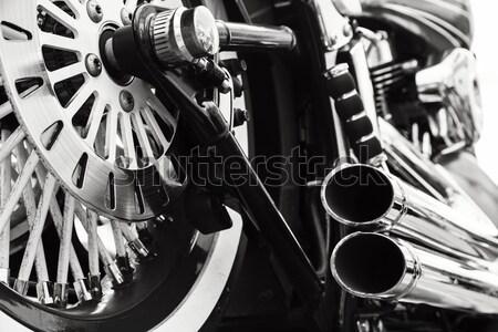Motorfiets mode mannen jongen fiets Stockfoto © mblach