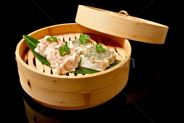 Dim sum bambusz gőzhajó Stock fotó © mblach