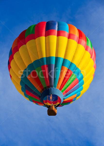Balonem kolorowy niebo sportu niebieski zabawy Zdjęcia stock © mblach