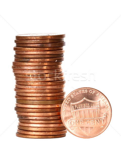 one cent coins Stock photo © mblach