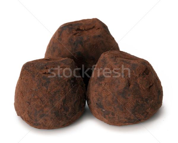 chocolate truffle Stock photo © mblach