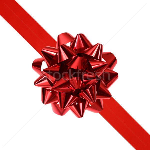red ribbon with bow Stock photo © mblach