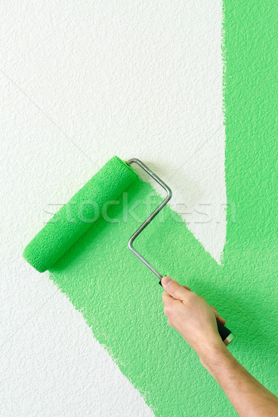 painting a wall Stock photo © mblach