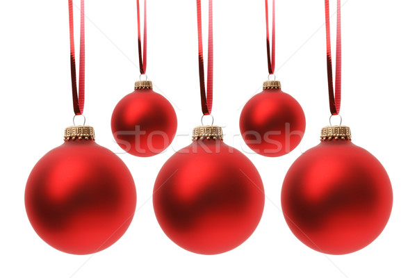 Christmas Rood geïsoleerd witte bal Stockfoto © mblach