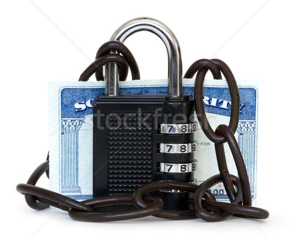 Robo de identidad tecnología seguridad tarjeta segura idea Foto stock © mblach