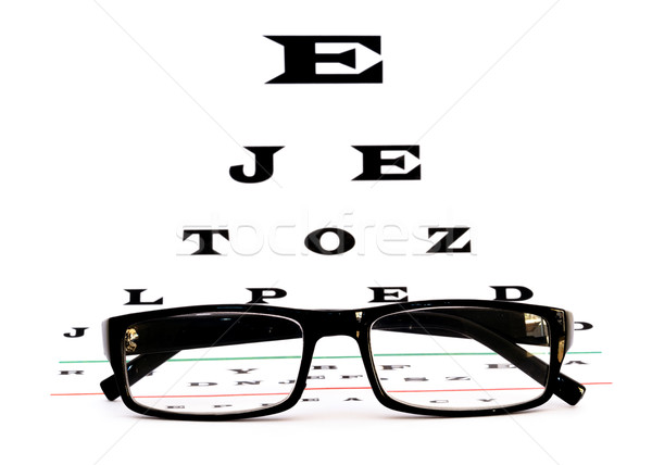 eye chart with glasses Stock photo © mblach