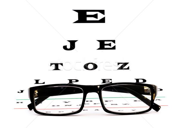 Oeil graphique verres lunettes de lecture design soins Photo stock © mblach