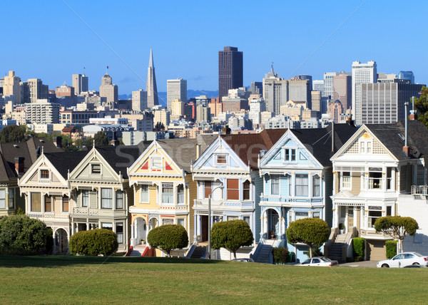 Vierkante San Francisco gebouw stad reizen stedelijke Stockfoto © mblach