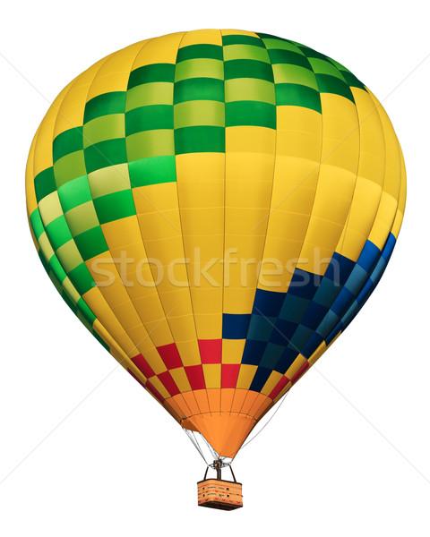 Stockfoto: Luchtballon · geïsoleerd · witte · sport · leuk · kleur