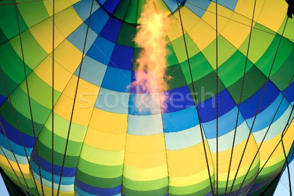 Hőlégballon sport háttér légy forró léggömb Stock fotó © mblach