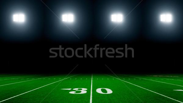 Boisko do piłki nożnej amerykański trawy sportu tle dziedzinie Zdjęcia stock © mblach