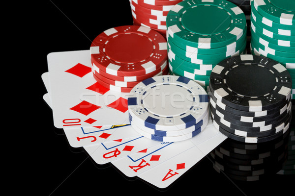 poker chips with cards Stock photo © mblach