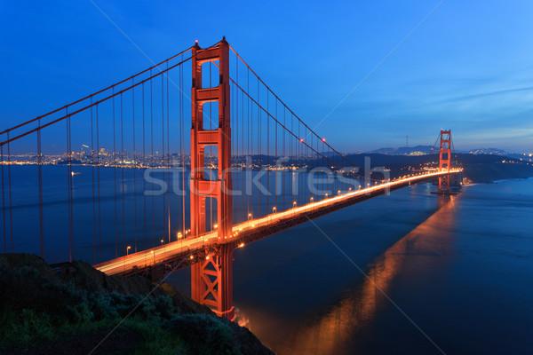 ゴールデンゲートブリッジ 1泊 空 風景 芸術 橋 ストックフォト © mblach