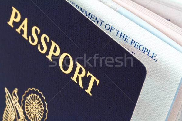Foto stock: Passaporte · branco · negócio · segurança · viajar · liberdade