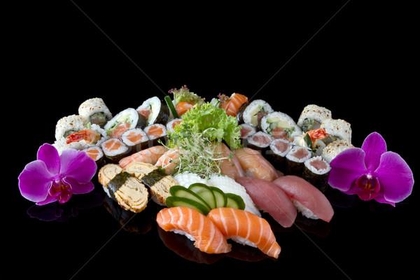 Zdjęcia stock: Sushi · zestaw · żywności · ryb · asian · jeść