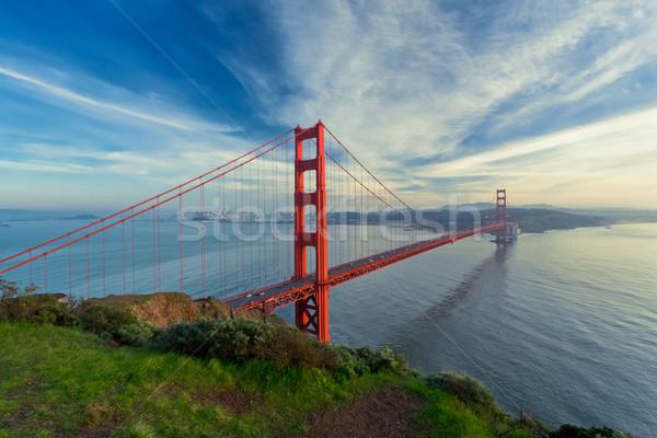 ゴールデンゲートブリッジ 遅い 空 風景 海 橋 ストックフォト © mblach