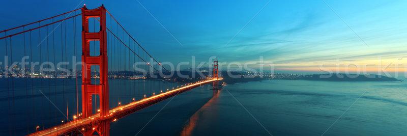 Golden Gate Bridge Golden Gate panorama niebo krajobraz morza Zdjęcia stock © mblach