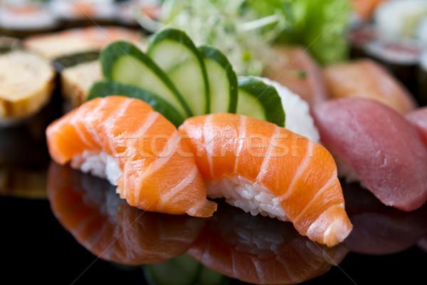 Sushi zestaw żywności ryb asian jeść Zdjęcia stock © mblach
