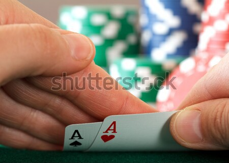 two aces Stock photo © mblach