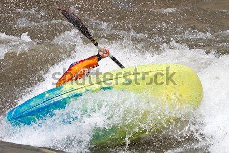 man in kayak Stock photo © mblach
