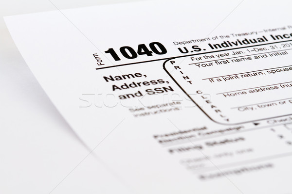 income tax form Stock photo © mblach