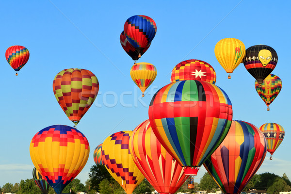 Stock photo: hot air balloons