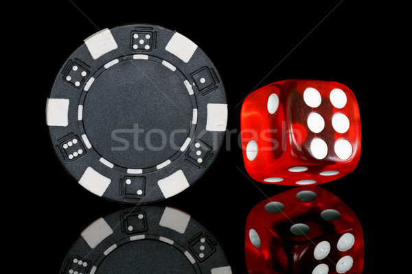 poker chip with dice Stock photo © mblach