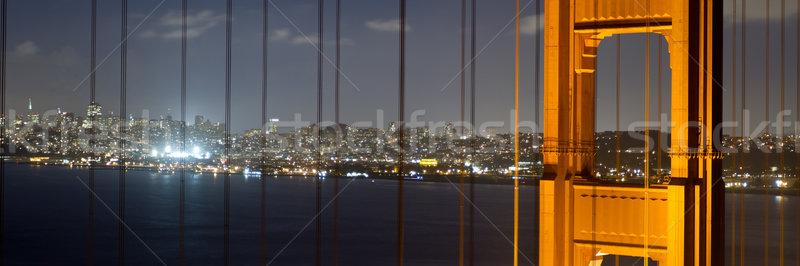 ゴールデンゲート 1泊 空 芸術 海 橋 ストックフォト © mblach