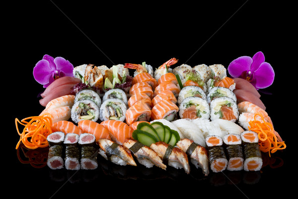 Sushis alimentaire poissons asian manger Photo stock © mblach