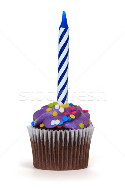 cupcake with candle Stock photo © mblach