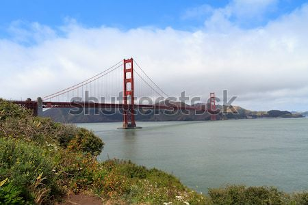 Golden Gate San Francisco Himmel Landschaft Kunst Ozean Stock foto © mblach