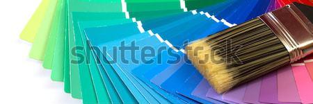 Kleur penseel home verf kunst ruimte Stockfoto © mblach