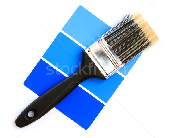 color swatch with paintbrush Stock photo © mblach