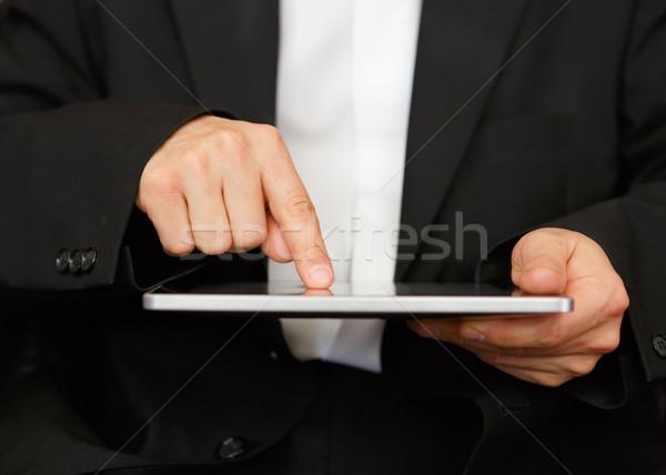 Iş adamı dijital tablet bilgisayar ofis defter Stok fotoğraf © mblach