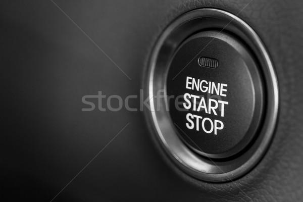 Początku przycisk silnika stop tablica rozdzielcza nowoczesne Zdjęcia stock © mblach