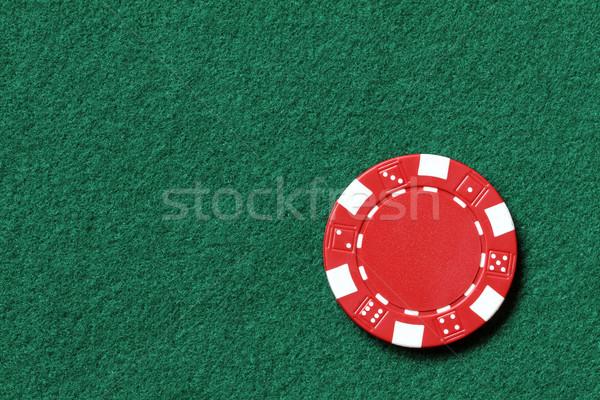 Póquer chip rojo fondo diversión financiar Foto stock © mblach